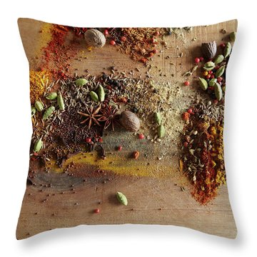 Juniper Berries Throw Pillows