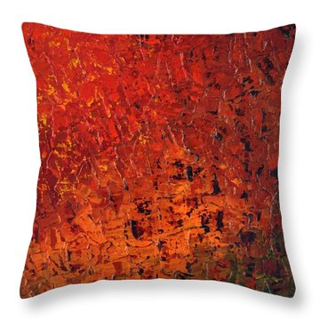 Spicey Throw Pillow by Linda Bailey