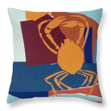 Spider Crab Throw Pillow by John Wallington