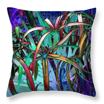 Spider Lilly Throw Pillow by Athala Carole Bruckner