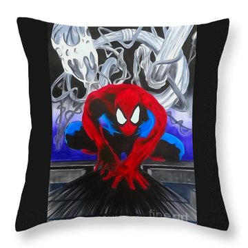 Spider-man Watercolor Throw Pillow