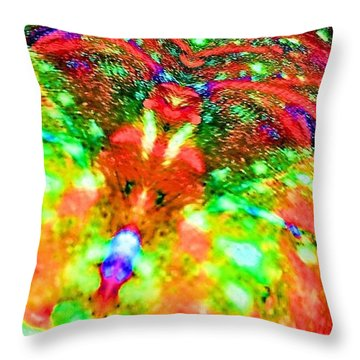 Spider Mouse Throw Pillow