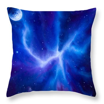 Spider Nebula Throw Pillow by James Christopher Hill