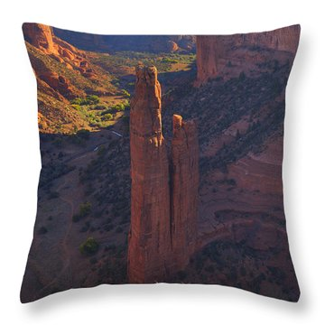 Throw Pillow featuring the photograph Spider Rock by Alan Vance Ley