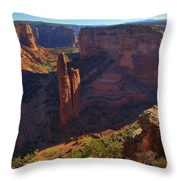 Throw Pillow featuring the photograph Spider Rock Sunrise by Alan Vance Ley