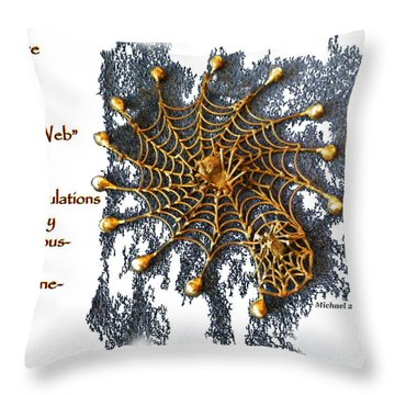 Spider Web Congratulation Thank You Well Done Throw Pillow