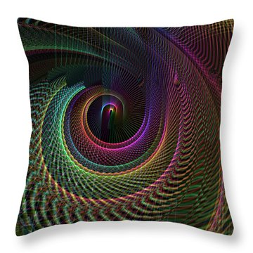 Spiderweb Tunnel  Throw Pillow