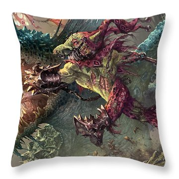 Spike Jester Throw Pillow by Ryan Barger