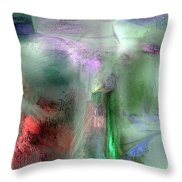 Spikemoss Throw Pillow