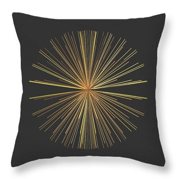 Throw Pillow featuring the digital art Spikes... by Tim Fillingim