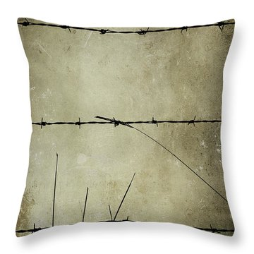 Spikey Wire Throw Pillow by Svetlana Sewell