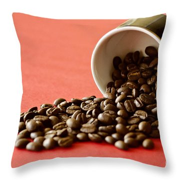 Spill The Beans Throw Pillow