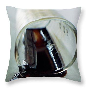 Spilled Balsamic Vinegar Throw Pillow