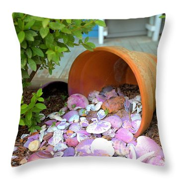 Throw Pillow featuring the photograph Spilled Shels by Gordon Elwell