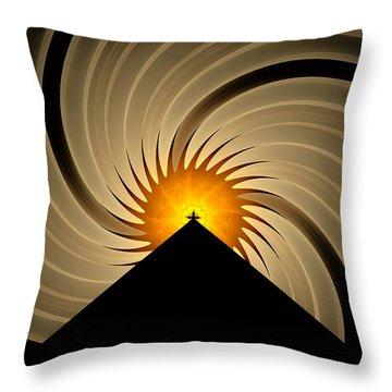Throw Pillow featuring the digital art Spin Art by GJ Blackman