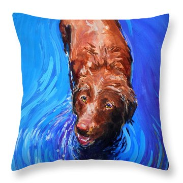 Spin Cycle Throw Pillow by Molly Poole