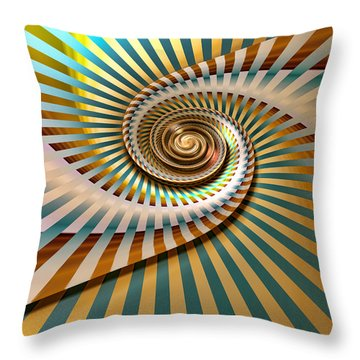 Throw Pillow featuring the digital art Spin by Manny Lorenzo