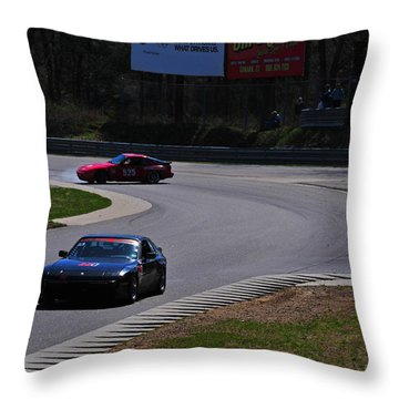 Spin Out Throw Pillow by Mike Martin