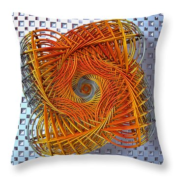 Throw Pillow featuring the digital art Spin State IIi by Manny Lorenzo