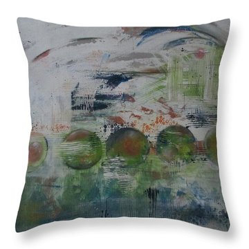 Spin The Earth Throw Pillow