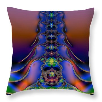 Throw Pillow featuring the digital art Spine by Dragica  Micki Fortuna