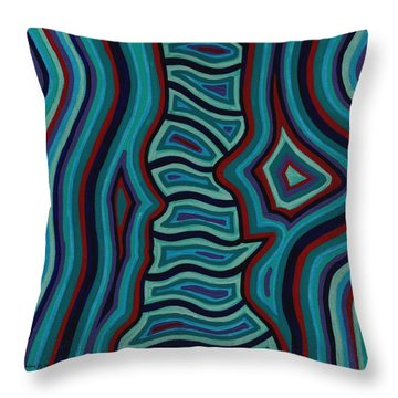 Spine Talk Throw Pillow by Barbara St Jean