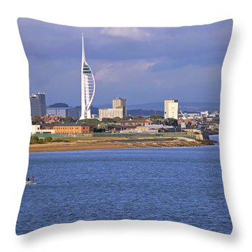 Spinnaker Tower And Gunwharf Quays Throw Pillow