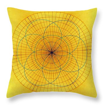 Spinning Around Throw Pillow by Tom Druin