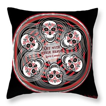 Spinning Celtic Skulls Throw Pillow