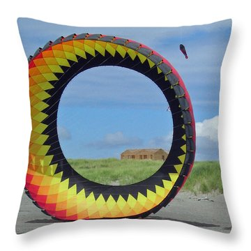 Spinning In A Circle Throw Pillow