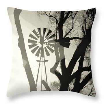 Spinning Inside Throw Pillow by Clarice  Lakota
