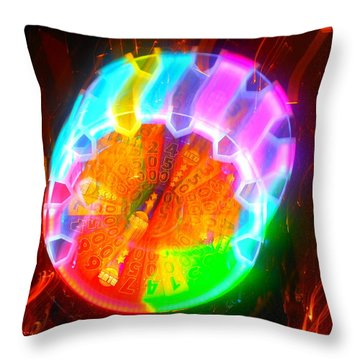 Spinning Orb In The Cosmos Throw Pillow