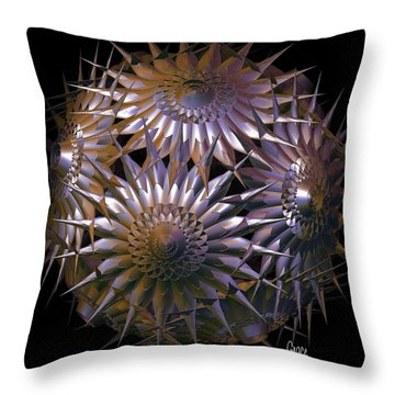 Spiny Beauty Throw Pillow by Julie Grace