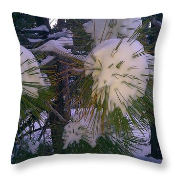 Spiny Snow Balls Throw Pillow