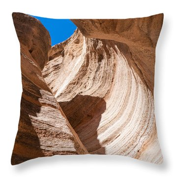 Spiral At Tent Rocks Throw Pillow