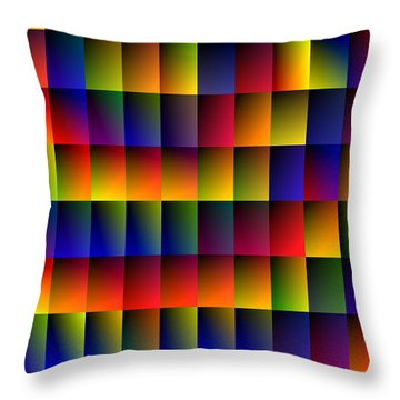 Spiral Boxes Throw Pillow
