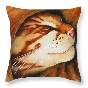 Spiral Cat Throw Pillow