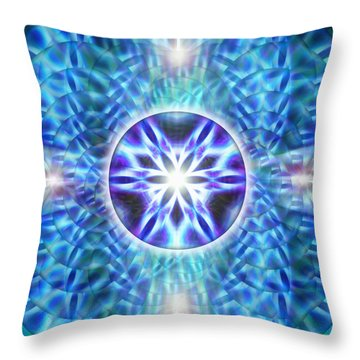 Throw Pillow featuring the drawing Spiral Compassion by Derek Gedney