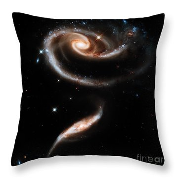 Spiral Galaxies Throw Pillow