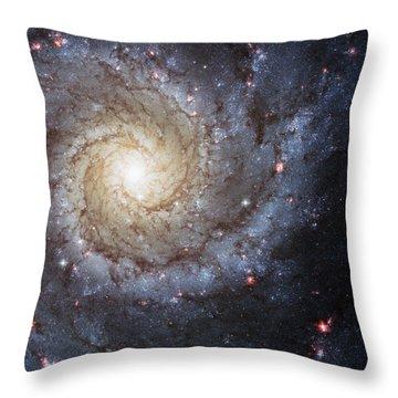 Spiral Galaxy M74 Throw Pillow