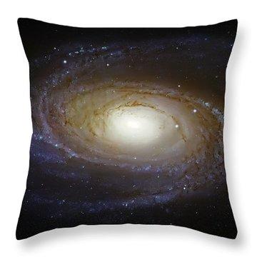 Spiral Galaxy M81 Throw Pillow by Jennifer Rondinelli Reilly - Fine Art Photography