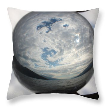 Spiral In The Sky Throw Pillow