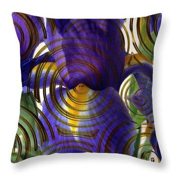 Spiral Iris Throw Pillow