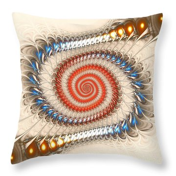 Spiral Journey Throw Pillow by Anastasiya Malakhova
