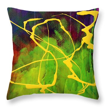 Spiral Throw Pillow by Nancy Merkle