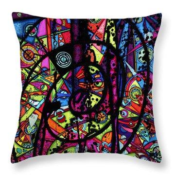 Spiral Night Throw Pillow