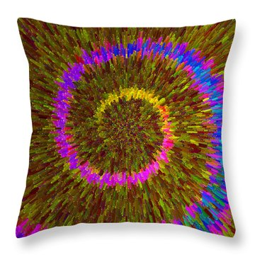 Spiral Rainbow IIi C2014 Throw Pillow
