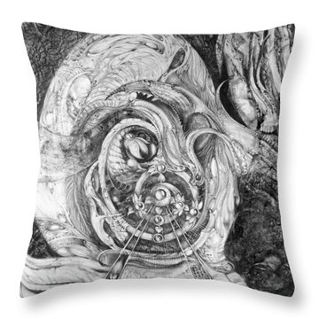 Spiral Rapture 2 Throw Pillow by Otto Rapp