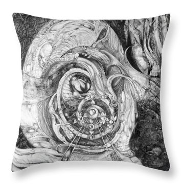 Spiral Rapture 2 Throw Pillow