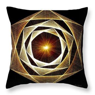 Spiral Scalar Throw Pillow